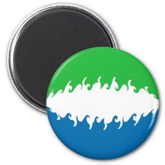 Sierra Leone Gnarly Flag Magnet