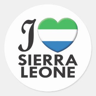 Sierra Leone Love Round Stickers