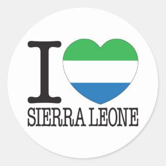 Sierra Leone Love v2 Round Sticker