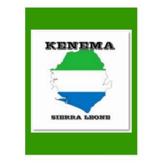 Sierra Leone, Map PostCard(Kenema)