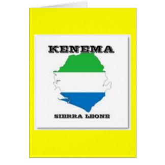 Sierra Leone, Map PostCard(Kenema) Card