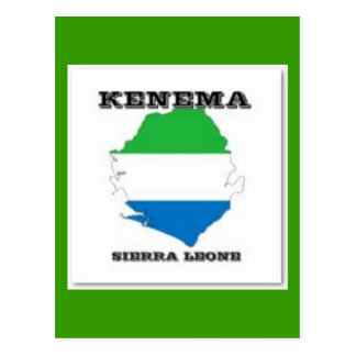 Sierra Leone, Map PostCard(Kenema) Postcard