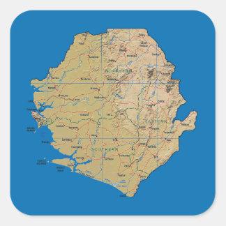 Sierra Leone Map Sticker