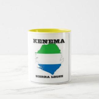 Sierra Leone, Map Teacup(Kenema) Two-Tone Coffee Mug