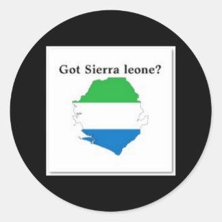 SIERRA LEONE, MAPA, CAMISETA Y ETC PEGATINA REDONDA