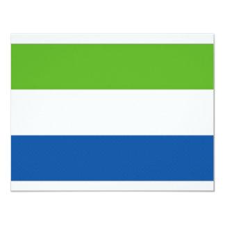 Sierra Leone National Flag Card