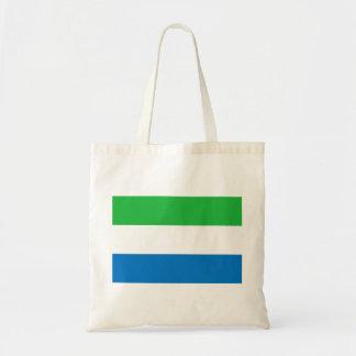 Sierra Leone National World Flag Tote Bag