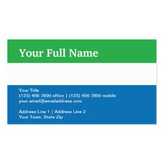Sierra Leone Plain Flag Business Card Templates