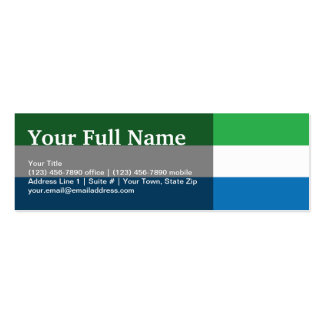 Sierra Leone Plain Flag Business Card