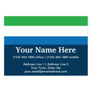 Sierra Leone Plain Flag Business Cards