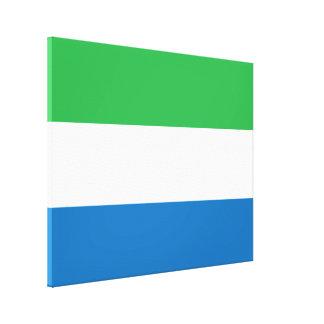 Sierra Leone Plain Flag Canvas Print