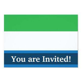 Sierra Leone Plain Flag Card