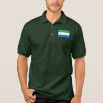 Sierra Leone Plain Flag Polo Shirt