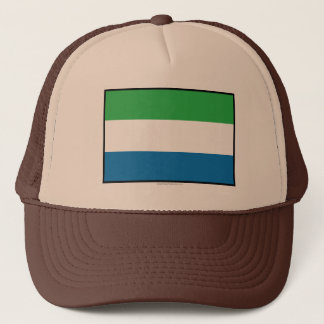 Sierra Leone Plain Flag Trucker Hat