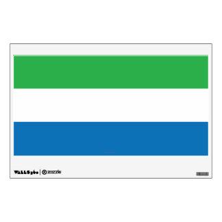 Sierra Leone Plain Flag Wall Decal