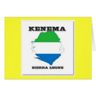 Sierra Leone, postal del mapa (Kenema) Tarjeta De Felicitación
