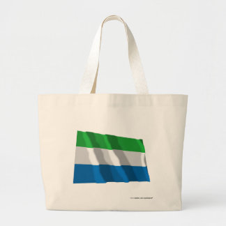 Sierra Leone que agita la bandera Bolsas