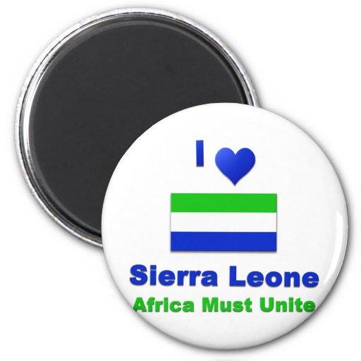 Sierra Leone Refrigerator Magnets