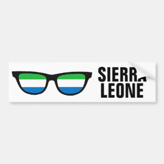 Sierra Leone Shades custom bumpersticker Car Bumper Sticker