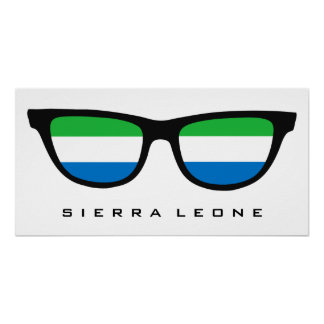 Sierra Leone Shades custom text & color poster
