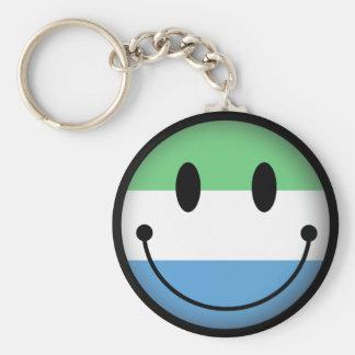 Sierra Leone Smiley Key Chains