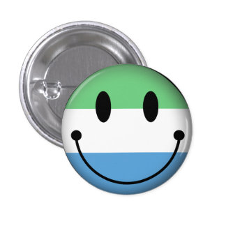 Sierra Leone Smiley Pinback Button