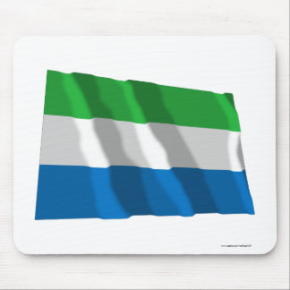 Sierra Leone Waving Flag Mouse Pad