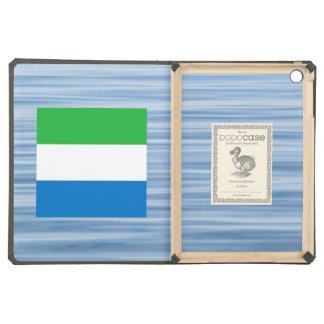 Sierra Leonean Flag Floating on water iPad Air Cases