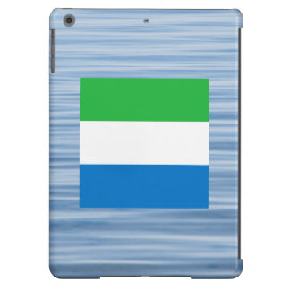 Sierra Leonean Flag Floating on water Cover For iPad Air