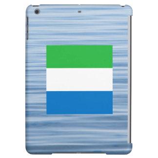 Sierra Leonean Flag Floating on water iPad Air Case