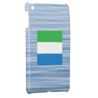 Sierra Leonean Flag Floating on water iPad Mini Covers