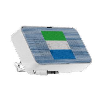 Sierra Leonean Flag Floating on water Notebook Speakers