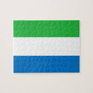 Sierra Leonean Flag Jigsaw Puzzle