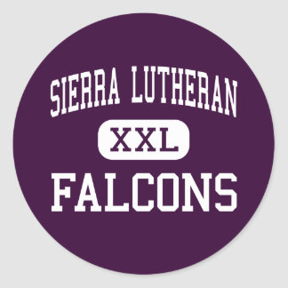 Sierra Lutheran - Falcons - High - Minden Nevada Classic Round Sticker