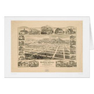 Sierra Madre, California (1617A) Tarjeta De Felicitación