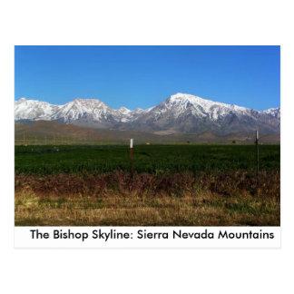 Sierra Nevada cerca del obispo, postal de CA