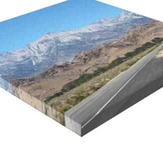 "Sierra Nevada Mountains (12"" x 12"") Wrapped Canvas"