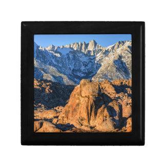Sierra Nevada Mountains And Alabama Hills Sunrise Jewelry Box