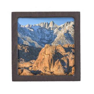 Sierra Nevada Mountains And Alabama Hills Sunrise Keepsake Box