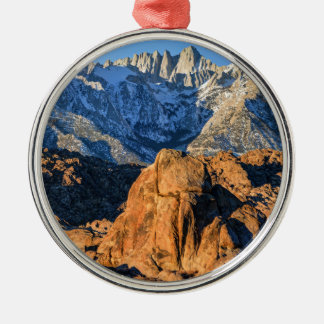 Sierra Nevada Mountains And Alabama Hills Sunrise Metal Ornament