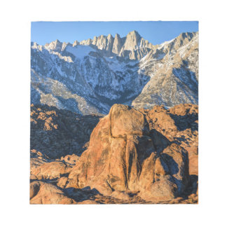 Sierra Nevada Mountains And Alabama Hills Sunrise Notepad