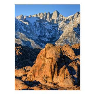Sierra Nevada Mountains And Alabama Hills Sunrise Postcard
