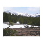 Sierra Nevada Mountains and Snow at Yosemite Canvas Print