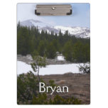 Sierra Nevada Mountains and Snow at Yosemite Clipboard