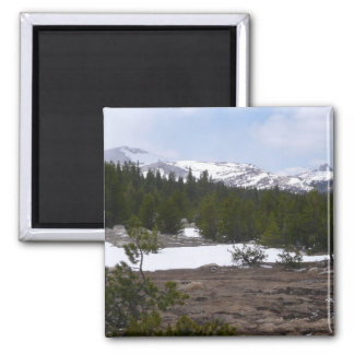 Sierra Nevada Mountains and Snow at Yosemite Magnet