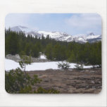 Sierra Nevada Mountains and Snow at Yosemite Mouse Pad