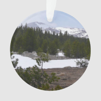 Sierra Nevada Mountains and Snow at Yosemite Ornament
