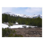 Sierra Nevada Mountains and Snow at Yosemite Photo Print