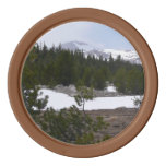 Sierra Nevada Mountains and Snow at Yosemite Poker Chip Set
