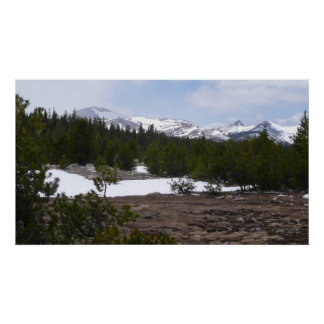 Sierra Nevada Mountains and Snow at Yosemite Poster